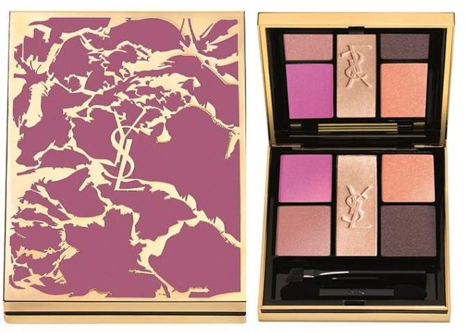 Четырехцветная палетка теней для век YSL Flower Crush Collector Eye Palette Pivoine Crush (лимитированный выпуск)