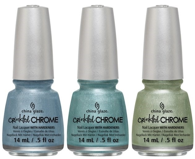 лак для ногтей China Glaze Crinkled Chrome Winter 2014 Collection