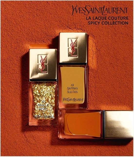 Весенняя коллекция лаков для ногтей YSL La Laque Couture Spicy Spring 2014 Collection