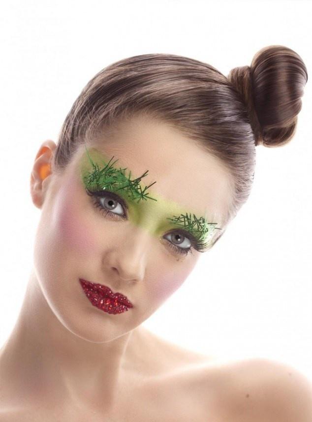 макияж смоки-айс для Нового года 2019