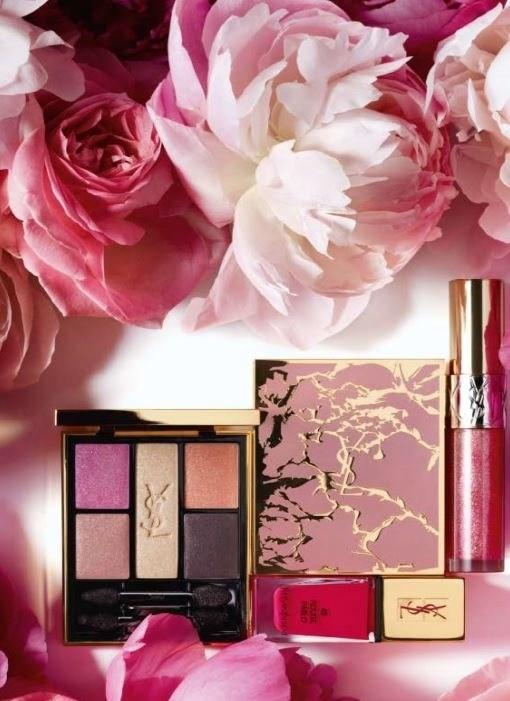 Весенняя коллекция макияжа Yves Saint Laurent Flower Crush Spring 2014 Collection