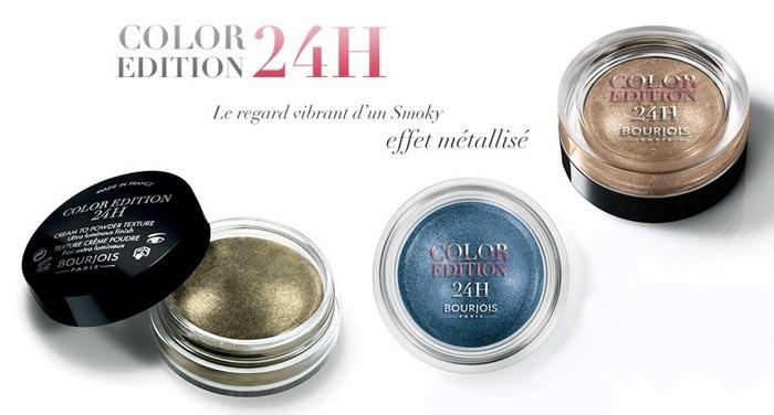 Новая коллекция кремовых теней для век Bourjois Color Edition 24h Eyeshadow Collection