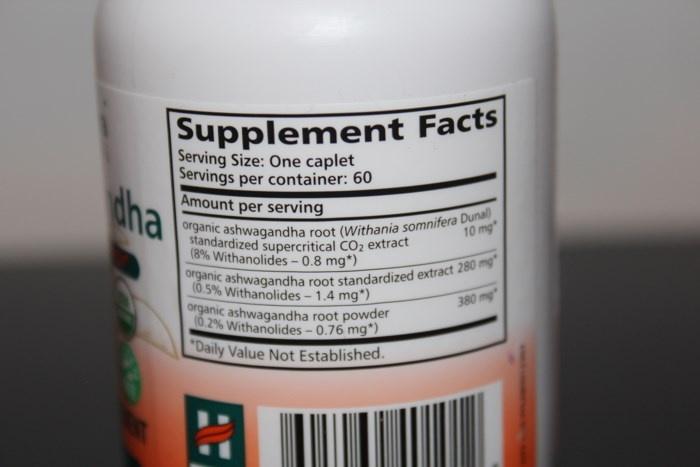 Биологически-активная добавка к пище, содержащая экстракт ашваганды Himalaya Herbal Healthcare, Ashwagandha, (60 таблеток) состав