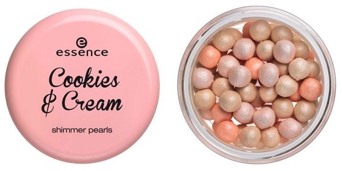 Жемчужная пудра-шиммер Essence Cookies & Cream Shimmer Petals 01 One sweet day