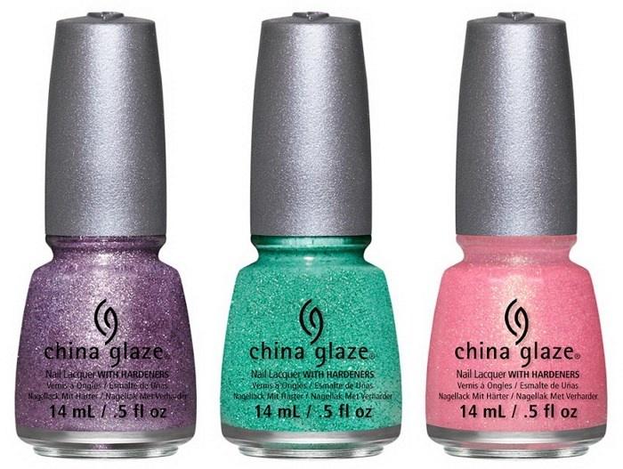 оттенки лаков для ногтей China Glaze Sea Goddess Spring 2014 Collection