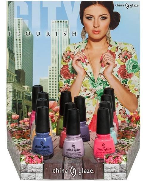 Весенняя коллекция лаков для ногтей China Glaze City Flourish Spring 2014 Collection