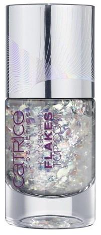 Топовое покрытие для ногтей с голографическими частицами Catrice Haute Future Holographic Flakes Top Coat - C01 Holo Is The New Yolo
