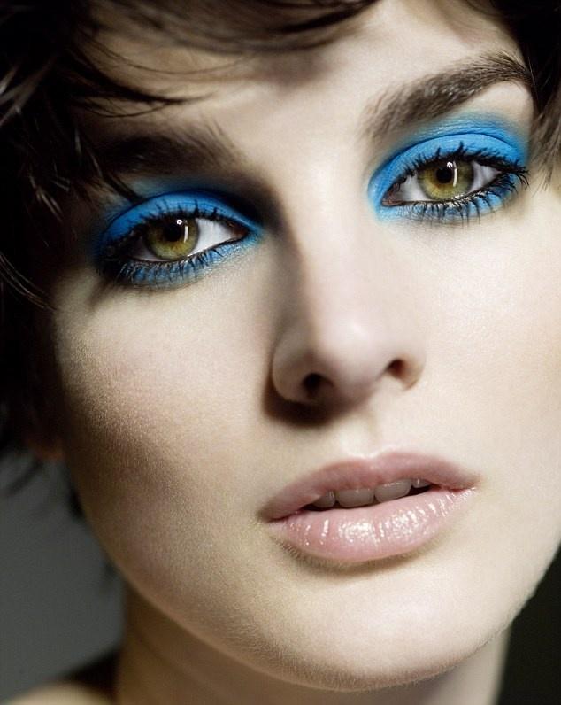 макияж весна 2014: Синие тени для век