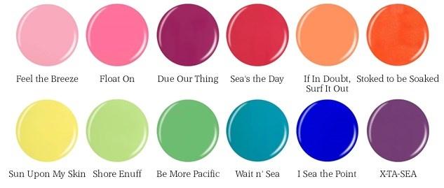 Летняя коллекция лаков для ногтей China Glaze Off Shore Summer 2014 Collection  оттенки с названиями