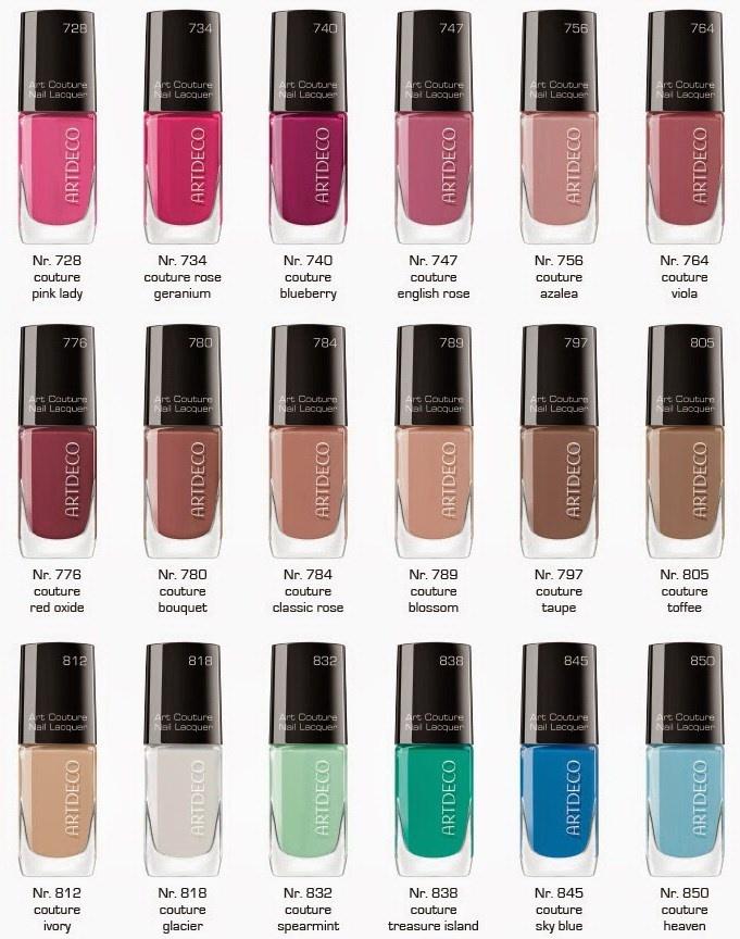 Оттенки лаков для ногтей Artdeco Art Couture Nail Lacquer Summer 2014 Collection