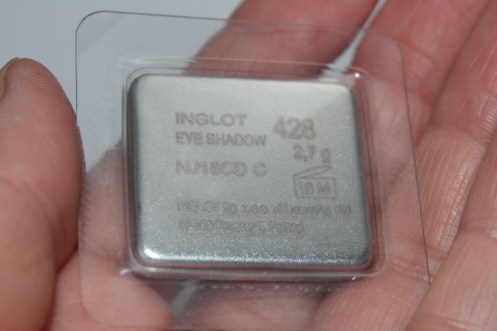 Тени для век Inglot №428 упаковка обратная сторона
