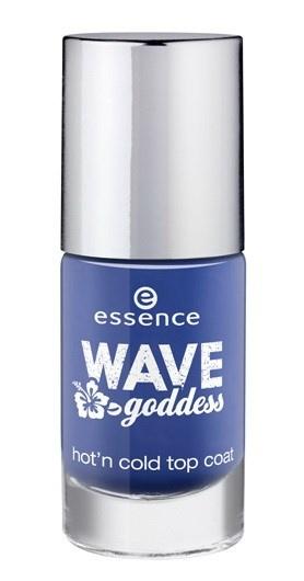 Топовое покрытие с эффектом термолака для ногтей Essence Hot'n Cold Top Coat - 01 Crush on blue