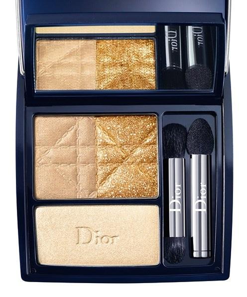 Трехцветные тени для век Dior 3-Couleurs Smoky Eyeshadow №531 Smoky Gold