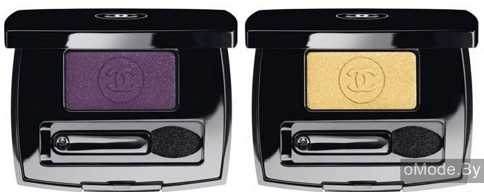 Одиночные тени для век Chanel Ombre Essentielle Soft Touch Eyeshadow - №112 Pulsion (насыщенный сливовый), №114 Admiration (золотисто-желтый)