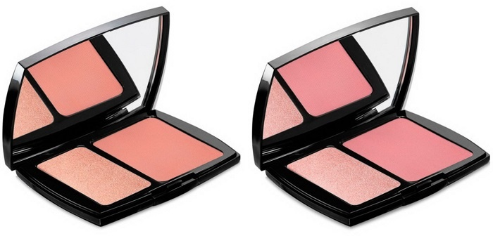 Двойные румяна-хайлайтер Lancome Blush Subtil Duo Delicate Powder Blush & Cream Highlighter - Pressed Rose, Sheer Macaroon Pink