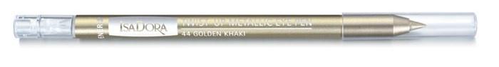 Выкручивающийся карандаш для глаз с металлическим эффектом Isadora Twist Up Metallic Eye Pen - №44 Golden Khaki
