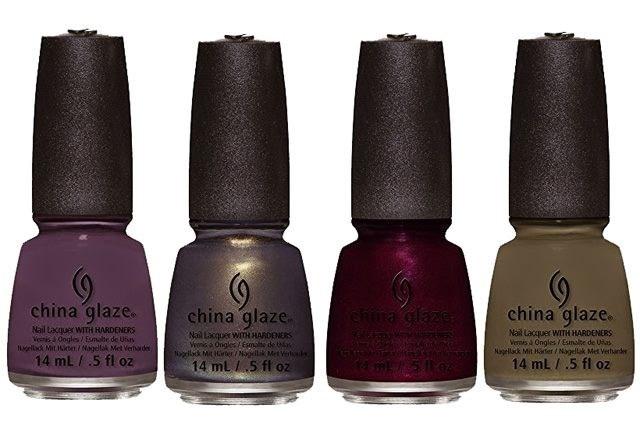 оттенки  лаков для ногтей China Glaze All Aboard Fall 2014 Collection