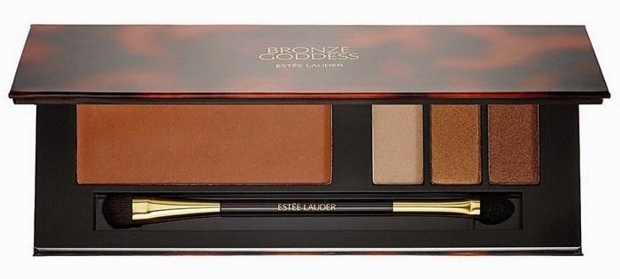 Мерцающая палетка для макияжа лица и глаз Bronze Goddess Shimmering Nudes Face & Eye Palette