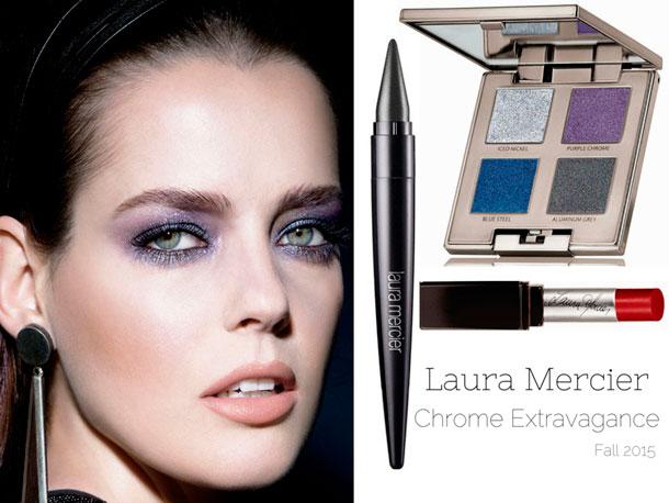 Осенняя коллекция макияжа Laura Mercier Chrome Extravagance Autumn 2015 Makeup Collection