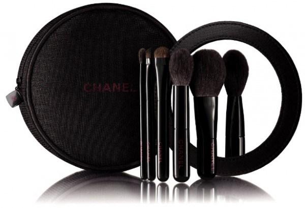 Набор мини-кистей для макияжа лица и глаз Les Mini de Chanel