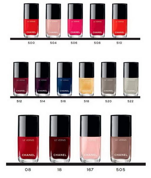Новая коллекция лаков для ногтей Сhanel Le Vernis Longwear Nail Colour все оттенки
