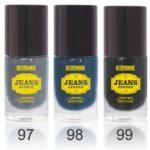 Лаки для ногтей Lux Visage Jeans Effect №97, 98 и 99
