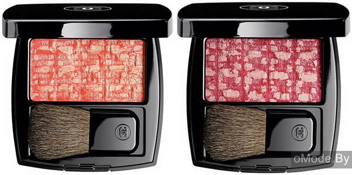 «Твидовые» румяна для лица Les Tissages de Chanel (оба оттенка лимитированные)