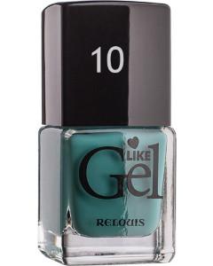 Лак для ногтей с гелевым эффектом Relouis «Like Gel» №10