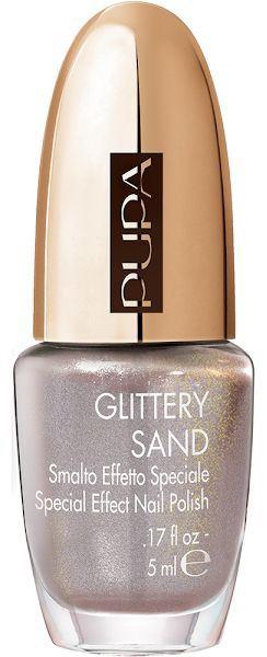 Лак для ногтей с «песочным» финишем PUPA Savanna Glittery Sand